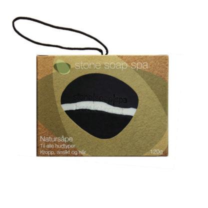 Natursåpe med tråd – brent kokosnøtt [StoneSoapSpa]