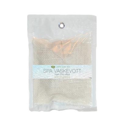 Små såpestykker i vaskevott – sitrongress [StoneSoapSpa]